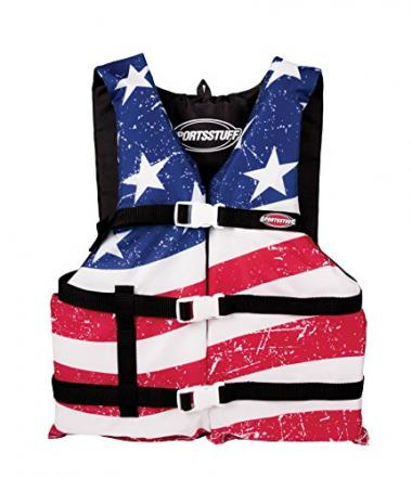 SportsStuff Stars and Stripes Adult Life Jacket For Boating