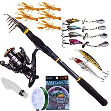 Sougayilang Fishing Rod Reel Combo
