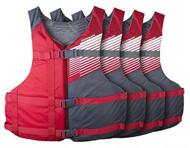 Stohlquist Waterware Adult PFD 4 Pack Life Jackets For Boating