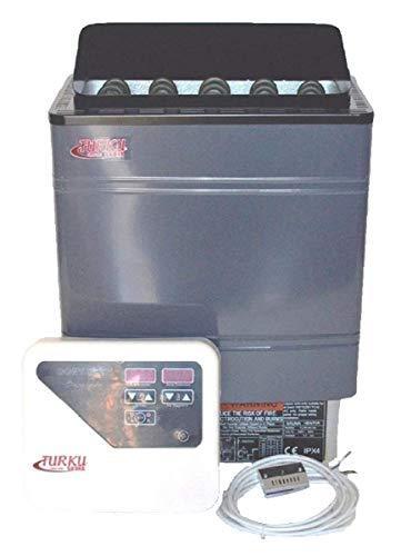 TURKU TU90WD-OD – Residential 9KW Wet & Dry 240V Sauna Heater