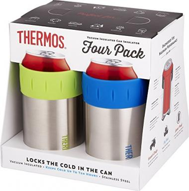 Thermos Can Insulator Set of 4 Beer Koozie
