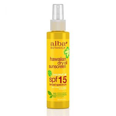 Alba Botanica Hawaiian, Sunscreen SPF 15 Tanning Oil