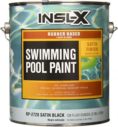 Complementary Coatings Black Rubber-Based Swimming Pool Paint