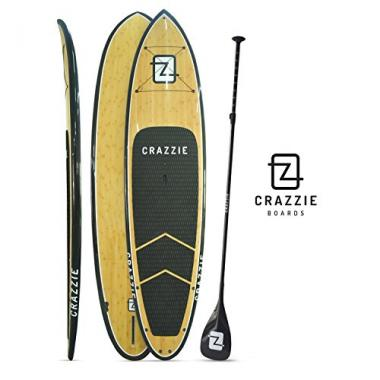 CRAZZIE Real Bamboo Paddle Board