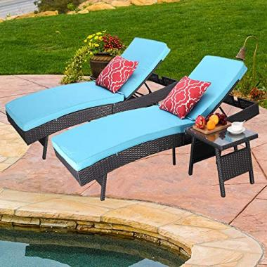 Do4U Adjustable Chaise Pool Lounge Chairs