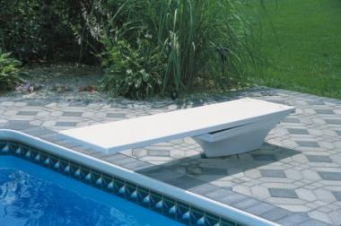 S.R. Smith Flyte-Deck II Stand with 8 foot Radiant White Fibre-Dive Diving Board