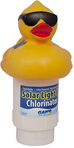 GAME Solar Light-Up Derby Duck Pool Chlorine Dispenser