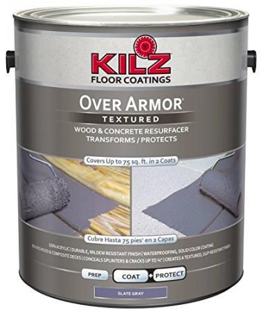 KILZ Over Armor Concrete Coating Slate Gray Pool Deck Paint
