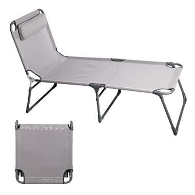 PORTAL Folding Camping Cot Patio Beach Pool Lounge Chair