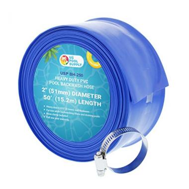 U.S. Pool Supply Blue PVC Swimming Pool Backwash Hose
