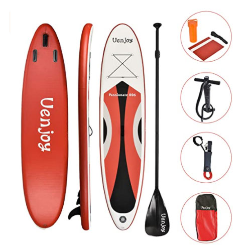Uenjoy Inflatable SUP Stand Up All Around Paddle Board