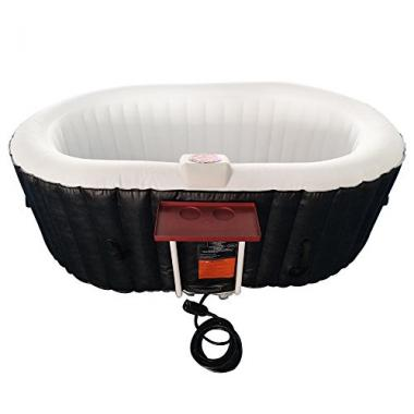 ALEKO Oval Inflatable Two Person Hot Tub