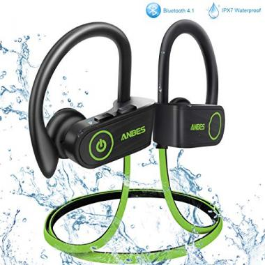 ANBES Bluetooth Wireless Earbuds Waterproof Headset