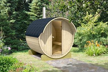 Wood Fired Barrel Sauna by Allwood