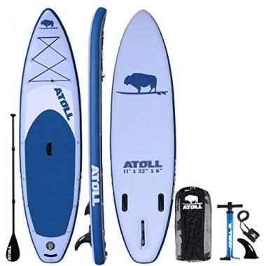 Atoll 11′ Foot Inflatable Stand Up All Around Paddle Board