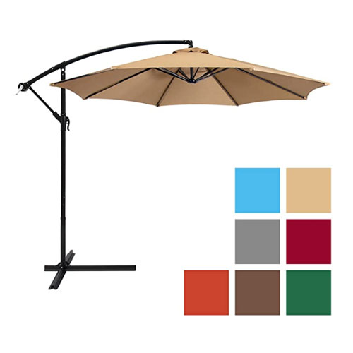 Best Choice Products Offset Pool Umbrella
