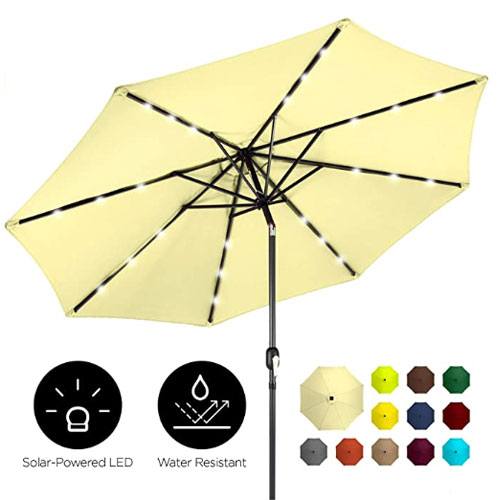 Best Choice Products Solar LED Pool Umbrella