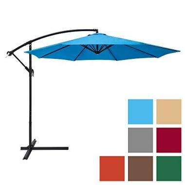 Best Choice Products 10ft Offset Hanging Pool Umbrella