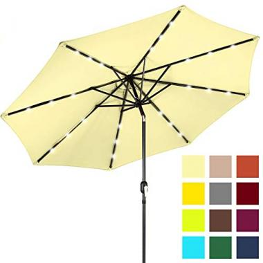 Best Choice Products Solar Powered LED Lighted Pool Umbrella