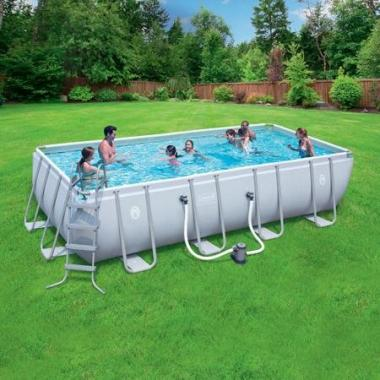 Coleman Power Steel Rectangular Frame Above Ground Swimming Pool