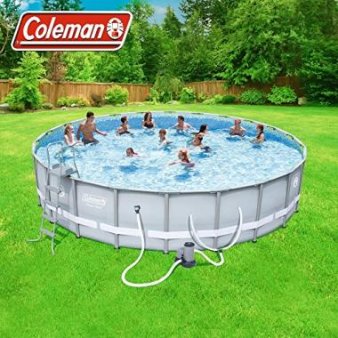 Coleman Power Steel Frame Above Ground Round Swimming