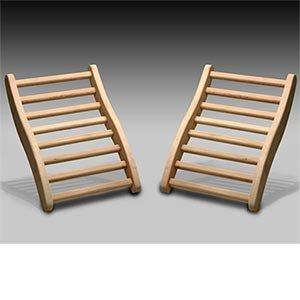 DYNAMIC SAUNAS 2-Pack Hemlock Sauna Backrests