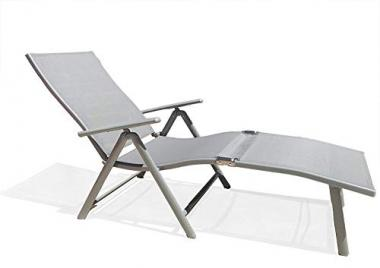 Kozyard Cosy Aluminum Reclining Pool Lounge Chair