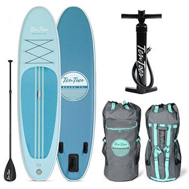 Retrospec 10′ Inflatable Stand Up All Around Paddle Board