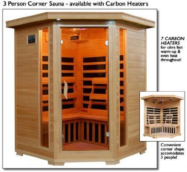 Santa Fe Infrared 3 Person Sauna by Heatwave