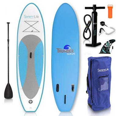 SereneLife Inflatable Stand Up All Around Paddle Board