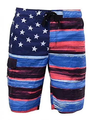 US Apparel Men's American Flag Board Short