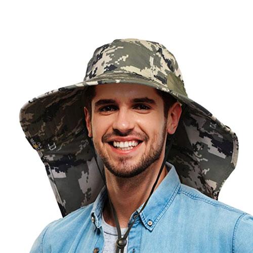 Tirrinia Full Coverage Mens Sun Sailing Hat