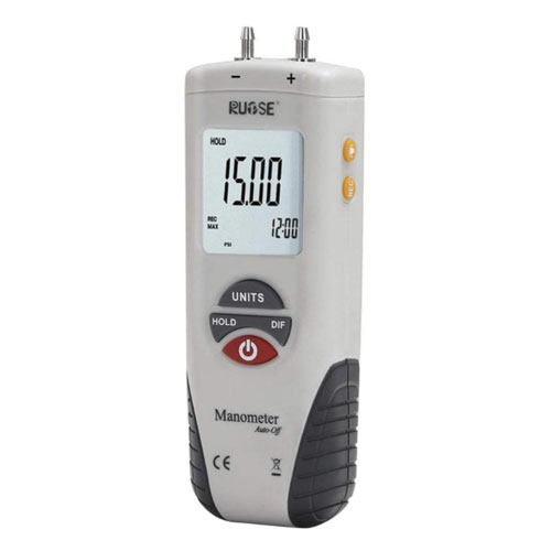 Rupse Hand-held Digital Differential Pressure Gauge Barometer