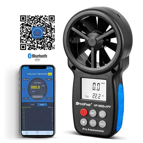 HOLDPEAK HP-866B-APP Wireless Bluetooth Digital Anemometer