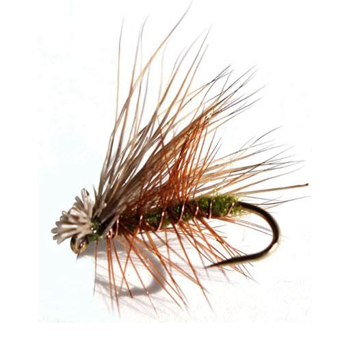 Flies Direct Elk Hair Caddis Olive Trout Flies