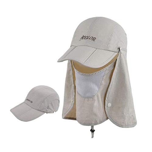 ICOLOR Neck Flap Face Mask Sailing Hat