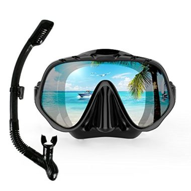 COPOZZ Tempered Glass Snorkel Mask