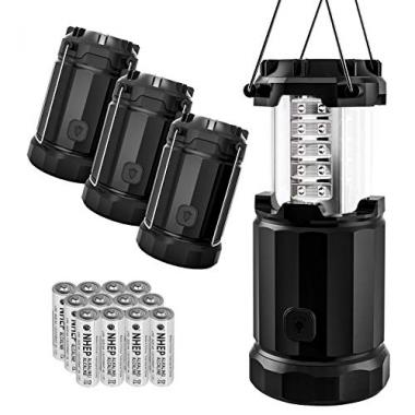 Etekcity 4 Pack Collapsible Portable LED Camping Lantern