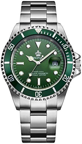 Fanmis Green Dial Quartz Dive Watch Under $100