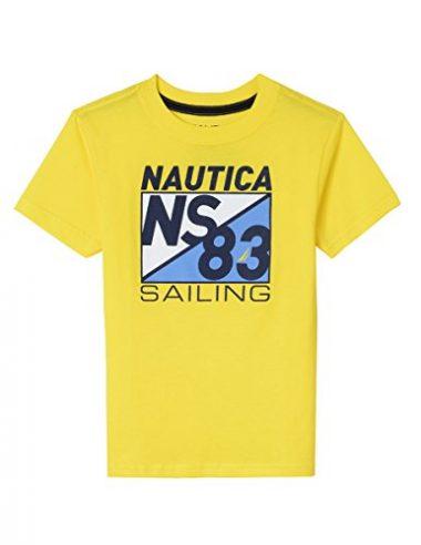 NAUTICA Boys' Big Short Sleeve Sailing Graphic Sailing Shirt