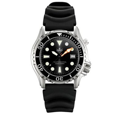 Phoibos Men's Swiss Quartz Dive Watch Under $500