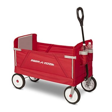 Radio Flyer 3-in-1 2 Cup Holders Folding Beach Wagon