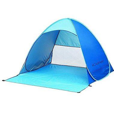 iCorer Automatic Instant Pop Up Cabana Beach Tent