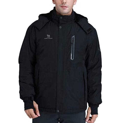 Camel Crown Men's Mountain Waterproof Ski Jacket