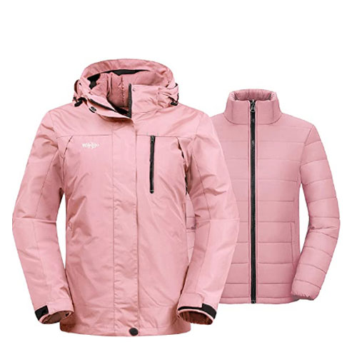 Wantdo Waterproof Women's Ski Jacket