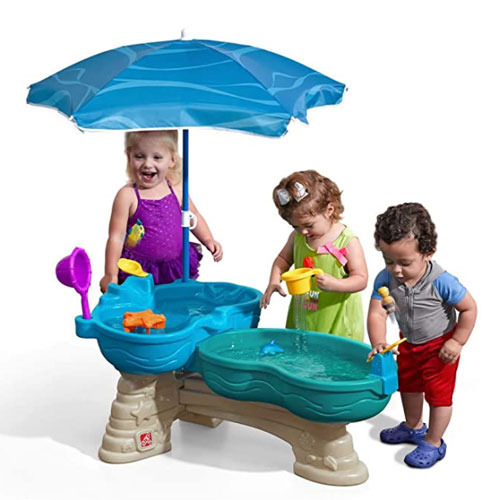 Step2 Spill & Splash Seaway Dual-Level Water Table For Kids