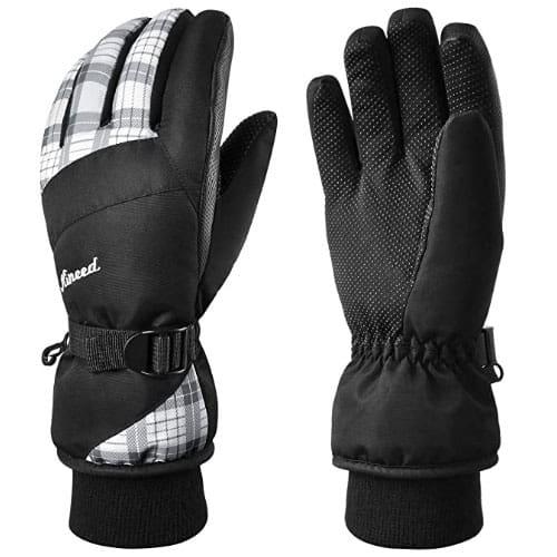 KINEED Waterproof Touchscreen Womens Ski Gloves