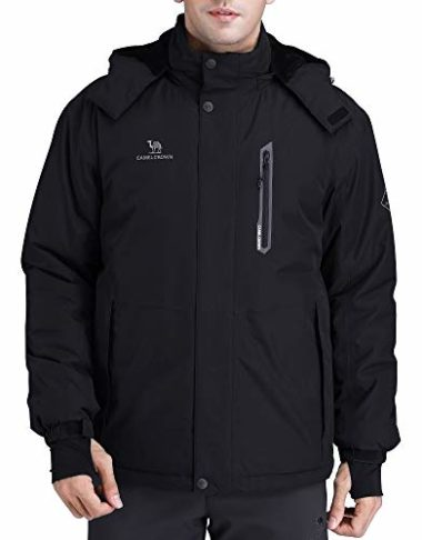 Camel Crown Men's Mountain Waterproof Ski Jacket