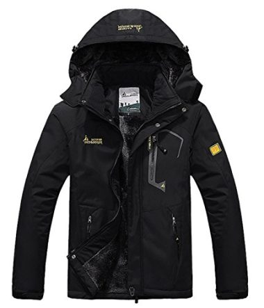 Pooluly Men's Waterproof Ski Jacket