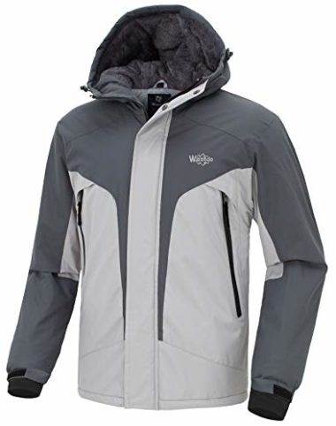 Wantdo Men's Windproof Fleece Snowboard Jacket
